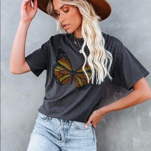 Social Butterfly Cotton Tee